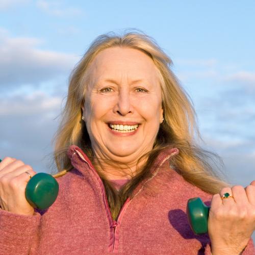 HTC Blog - Older lady exercising